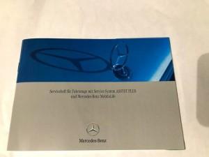 Mercedes Benz serviceheft